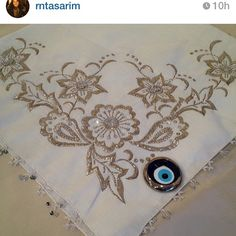 Photo from rntasarim_istanbul Gold Embroidery, Embroidery Needles, Embroidery Patterns, Machine Embroidery, Hand Work Design, Jewellery Sketches, Gold Work, Bargello, Bobbin Lace