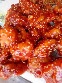 Kínai szezámmagos csirke Chia Puding, Cooking Recipes, Healthy Recipes, Special Recipes, Kfc, International Recipes, Chinese Food, Chicken Wings, Food And Drink