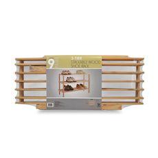 3-Tier Stackable Wood Shoe Rack