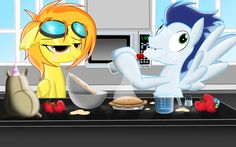 Spitfire and soarin.......cooking a pie by Spitshy on DeviantArt