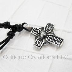Celtic Cross Twist Knot Necklace Adjustable Fine Pewter #celtic #celticcross #celticnecklace #celticjewelry #celtiquecreations