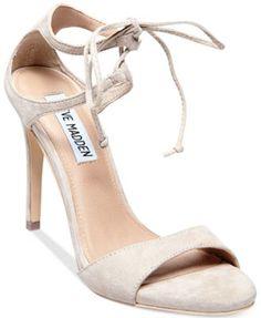 f299bd50d1f Steve Madden Women s Semona Lace-Up Dress Sandals Shoes Heels Pumps