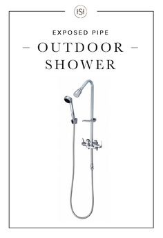 Shower in style with the Economy Exposed Pipe Outdoor Shower. Featuring a convenient hand shower, soap dish, and lever handles, it is the ultimate experience for an outdoor oasis.