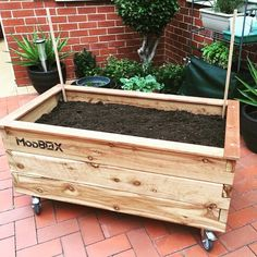 ModBOX Grande on Wheels ready for planting. #raisedgarden #modbox #gardeningaustralia #growyourown #planterbox #australia #melbourne #love #containergardening