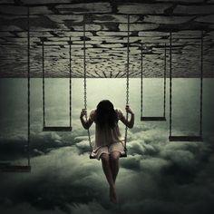 Vivo presa  em um mundo Um mundo de sonhos perdidos
