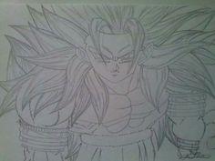 Desenho finalizado GOKU SSJ 5