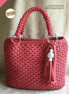 Crochet Home Decor, Handmade Handbags, Easy Crochet Patterns, Crochet Clothes, Straw Bag, Purses And Bags, Knit Crochet, Crafty, Knitting