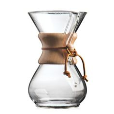 The Chemex Pour-over Coffee Maker's iconic design, unchanged since 1941, makes an incredibly clear & pure cup of coffee. Buy this classic coffee maker today!