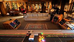 An image gallery of France's residential recording studio, La Fabrique, a luscious space in the heart of southern France. Home Recording Studio Setup, Home Studio Setup, Studio Layout, Studio Interior, Studio Ideas, Dream Studio, Audio Studio, Music Studio Room, Sound Studio