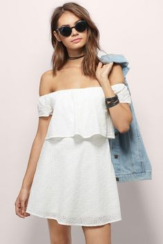 With Open Arms Off Shoulder Dress