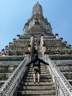 Thailand - very steep and narrow steps on a hot, humid day, but we weren't sorry for our efforts.