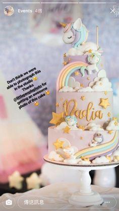 La tarta mas bonita de unicornios