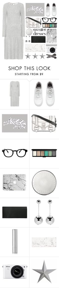 """comfortable living"" by foundlostme ❤ liked on Polyvore featuring Ryan Roche, H&M, Proenza Schouler, See Concept, MAC Cosmetics, Guerlain, J.W. Anderson, By Terry, Recover and Nikon"
