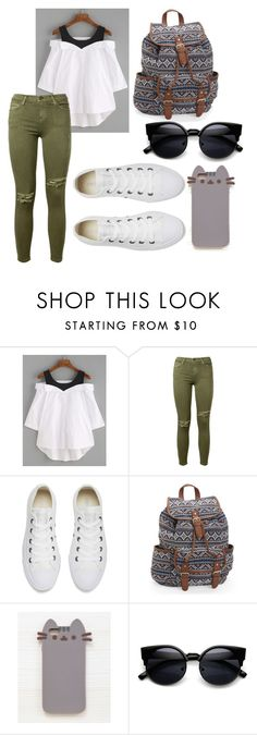 #165 by potato-cupcake on Polyvore featuring Current/Elliott, Converse, Aéropostale and Pusheen
