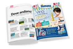 Humana Adv Concorso Candelina d'Oro #baby #kids #mother #childhood #adv #print #newspaper