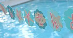 Mermaid banner, mermaid sign, mermaid birthday banner, mermaid favor tags, starfish favor tags, seahorse favor tags, mermaid labels, Mermaid centerpiece, mermaid party ideas, summer party ideas, beach party