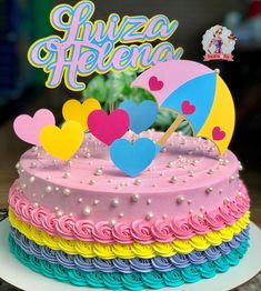 Trolls Birthday Party, Birthday Crafts, Unicorn Birthday Parties, Little Mermaid Cupcakes, Buttercream Cake Designs, Beautiful Birthday Cakes, Decadent Cakes, Drip Cakes, Round Cakes
