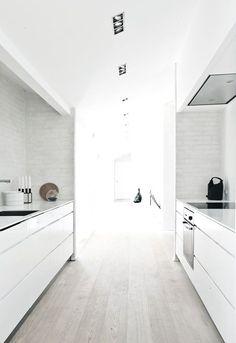 #interior design #kitchen inspiration #white interiors #light floors #style