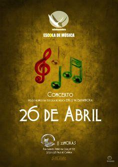 Concerto pelos Alunos da Escola de Música ENG | Vale de Pandora > 26 Abril 2013 - 22h00 @ Dunas Bar, Vale de Cambra
