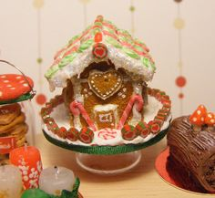 12th Scale Doll House Christmas Gingerbread by Cherryberryminis, $42.00