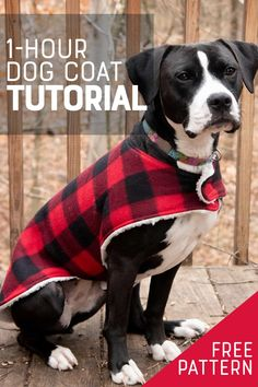 This cozy custom dog coat is a super easy beginner sewing project that is done in less than an hour, start-to-finish. It's the perfect gift for your furry friends! Dog Coat Pattern Sewing, Dog Sweater Pattern, Dog Pattern, Large Dog Coats, Large Dog Sweaters, Large Dogs, Dog Clothes Patterns, Coat Patterns, Skirt Patterns