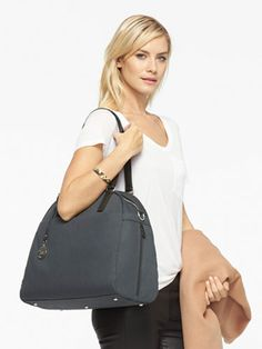 The O.M.G. - Medium Overnight Bag - Designed by Lo & Sons #loandsons Heather gray in color $275