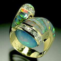 Opal Ring Opal the birthstone for October.