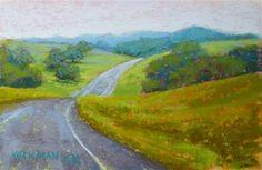 """Road Sketch No. - Original Fine Art for Sale - © Rita Kirkman Small Paintings, Fine Art Gallery, Cool Artwork, Great Artists, Art For Sale, Scene, Sketch, 6 Inches, Roads"