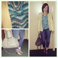 Taupe love. #ootd #outfitpic #WIW. #taupe #bananarepublic #booties and #MarcJacobs #purse, #vintage #yellow #blazer, #tanktop from @tjmaxx, #bow #necklace thanks to @victoriapana! #ankleboots #recycledclothing #TJMaxx #maxxinista #falltrends #fallcolors #fashion #fashionista #instafashion #trustintricia #WardrobeConsultant #FashionStylist #PersonalStylist