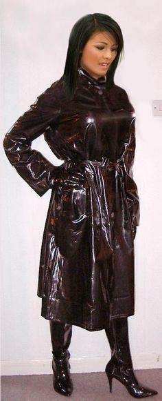 Black PVC Raincoat