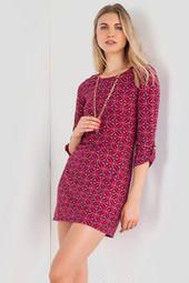 Sienna Printed Sweater Dress  Fracescas.com