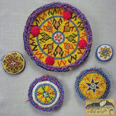 Beaded tribal discs from Afghanistan /// Afghan Tribal Arts