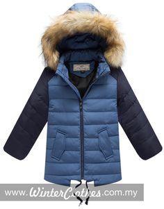 9d32c22d4d79 Kids Duck Down Winter Jacket OuterWear Detachable Hoodie - Winter Clothes  Fashion 2015