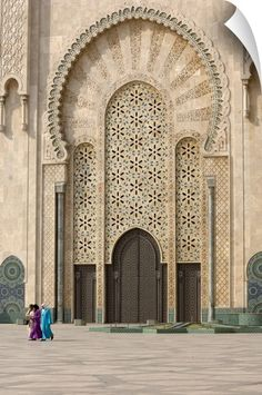 Photographic Print: Hassan Ii Mosque, Casablanca, Morocco, North Africa, by Graham Lawrence : Morrocan Architecture, Islamic Architecture, Beautiful Architecture, Art And Architecture, Architecture Portfolio, Visit Morocco, Morocco Travel, Africa Travel, Vietnam Travel