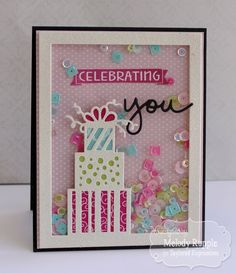 Happy Friday! I have a fun shaker birthday card to share today that I created with a few new products from Taylored Expressions .         ...