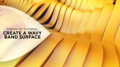 Create a Wavy Band Surface in Cinema 4D. In this tutorial, I'll walk you through the technique I came up with to recreate the nice, clean un...