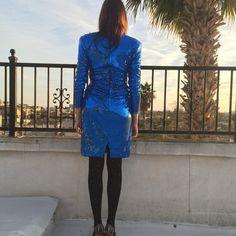 80's Tadashi Shoji dress // size 6 by LetYouGo on Etsy