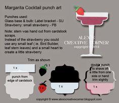 Alex's Creative Corner: Margarita cocktail punch art instructions