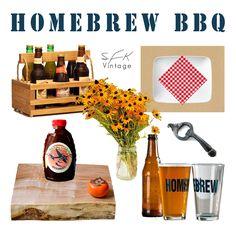 Homebrew BBQ party table setting - SFKvintage.com
