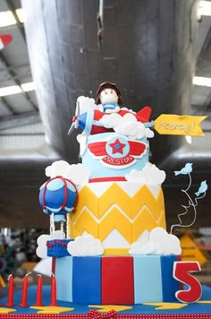 Aviation Airplane Themed Birthday Party with Such Awesome Ideas via Kara's Party Ideas KarasPartyIdeas.com #airplaneparty #aviationparty #airplanecake (8)