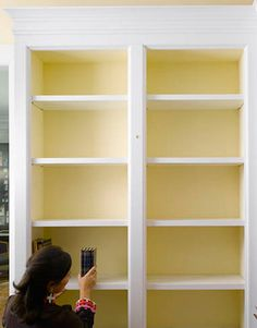 Bookcase styling by House Beautiful