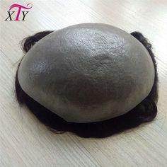 Custom toupee pu base hair system 100% indian remy human hair curly men hair toupee natural black
