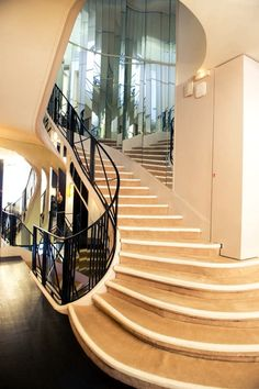 mirror, interior, coco chanel, stairs, stairway