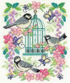 Oriental Birdcage Cross Stitch Kit - £22.50 on Past Impressions   by DMC