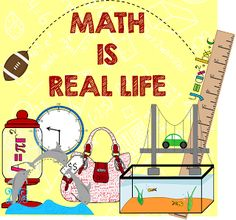MissMathDork: middle school math made FUN!: Math IS Real Life - August 2013 edition!