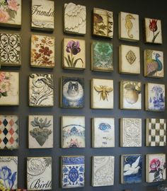 If you're looking for fun and unique ways to add some style to your walls,  then a display of Sid Dickens Memory Blocks could be just what you need.  Made of traditional, organic materials, these wall tiles are a beautiful  display of unmatched artistic workmanship.  Quick, Simple, and Easy Ins
