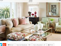 Love The Green Zebra Chairs Neutrals N Florals Traditional Living Room By Tamara Mack Design