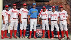 From L-R: S.Valle, D. Ruf, J. Rodriguez, D. Wathan, C. Hernandez, T. Hanzawa, and J. Friend.  Reading Phillies All Stars 2012