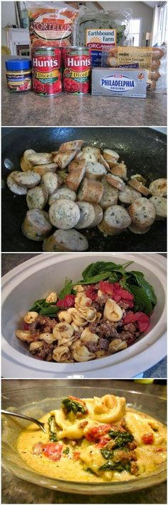 Ingredients   1 (19oz) bag of frozen cheese tortellini   1 small bag of fresh spinach (I used about half of a 5 oz package, but more is be...