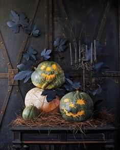Pick your best pumpkin and have your carving tools to the ready -- it's Halloween! Whether you want to go spooky or goofy, we have tons of Halloween pumpkin ideas for you to choose from and tips on how to safely carve a pumpkin. Holidays Halloween, Halloween Pumpkins, Fall Halloween, Halloween Crafts, Happy Halloween, Halloween Ideas, Halloween Entryway, Halloween Party, Halloween Tricks